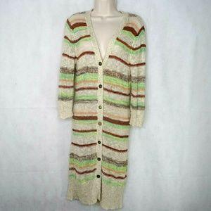 BKE Buckle Duster Cardigan Sweater Women Size XS